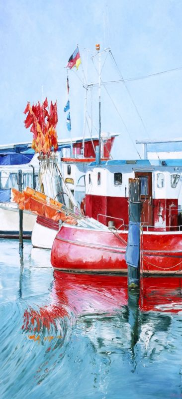 Rotes Boot Privat